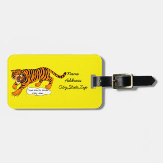 Tigers, Lions and Puns Luggage Tag