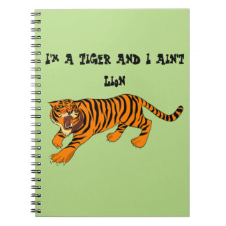 Tigers, Lions and Puns Notebooks