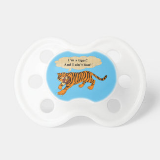 Tigers, Lions and Puns Pacifier