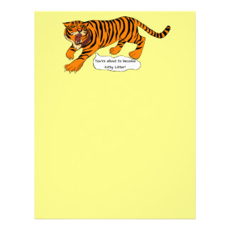 Tigers, Lions and Puns Personalized Letterhead
