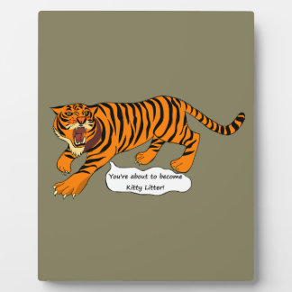 Tigers, Lions and Puns Photo Plaque