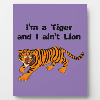 Tigers, Lions and Puns Photo Plaques