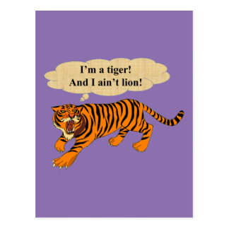 Tigers, Lions and Puns Postcard