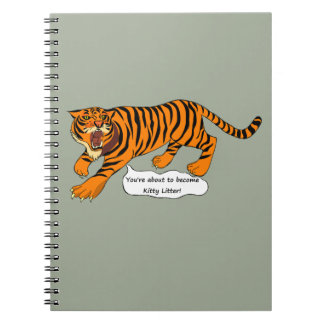 Tigers, Lions and Puns Spiral Note Books