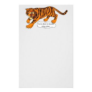 Tigers, Lions and Puns Stationery Paper