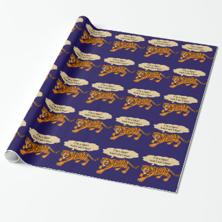 Tigers, Lions and Puns Wrapping Paper