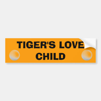 Tiger's Love Child - Golf Cart Bumper Sticker