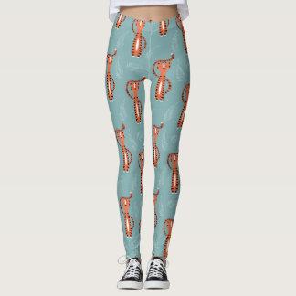 Tigers pattern leggings