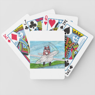 Tiger's Plane Bicycle Playing Cards