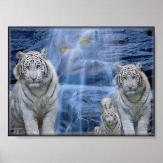 tigers retreat print