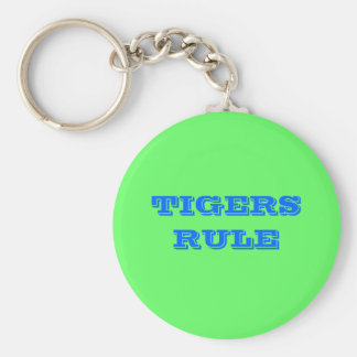 TIGERS RULE KEYCHAIN