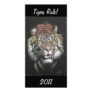 Tigers Rule! Photo Greeting Card
