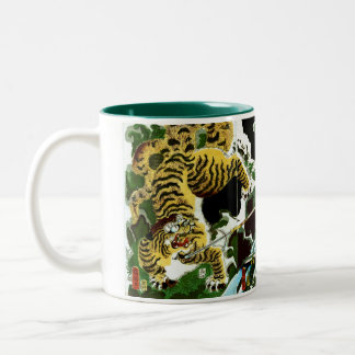 Tigers & Samurais Two-Tone Coffee Mug