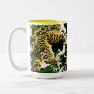 Tigers & Samurais Two-Tone Coffee Mug