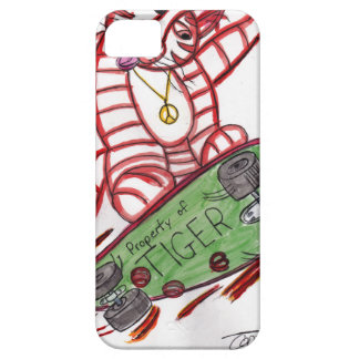 Tiger's Skateboard iPhone 5 Cover