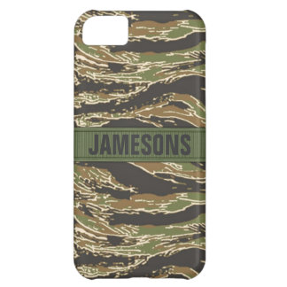 TigerStripe Camo Personalized iPhone 5C Cover