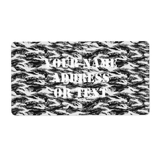Tigerstripe Urban Camouflage - Black & Grey Shipping Label