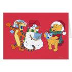 Tigger and Pooh Carolling Card