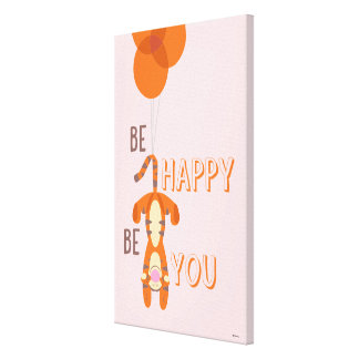 Tigger | Be Happy Be You Quote Canvas Print