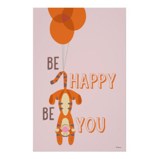 Tigger | Be Happy Be You Quote Poster