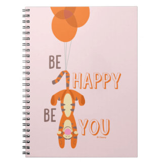 Tigger | Be Happy Be You Quote Spiral Notebook
