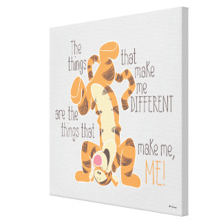 Tigger | Make Me, Me Quote 2 Canvas Print