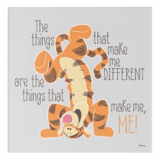 Tigger | Make Me, Me Quote 4 Acrylic Wall Art