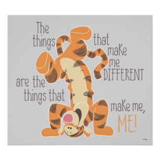 Tigger | Make Me, Me Quote Poster