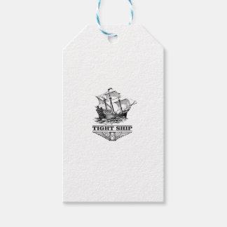 tight ship of sailing gift tags