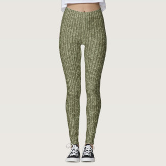 TIGHT SWEATER LINES GREEN by Slipperywindow Leggings