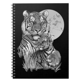 Tigre avec CUB (B/W) carnet