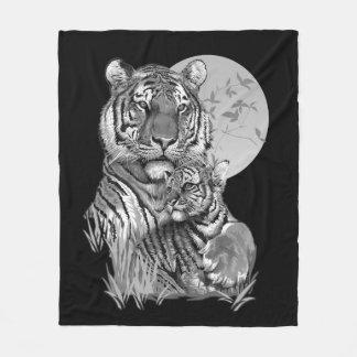 Tigre avec CUB (B/W) couverture d'ouatine