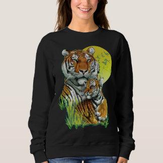 Tigre avec le sweatshirt d'obscurité de CUB