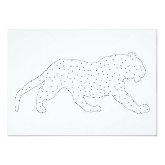 Tigre blanc carton d'invitation  12,7 cm x 17,78 cm