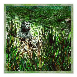 Tigre blanc carton d'invitation  13,33 cm