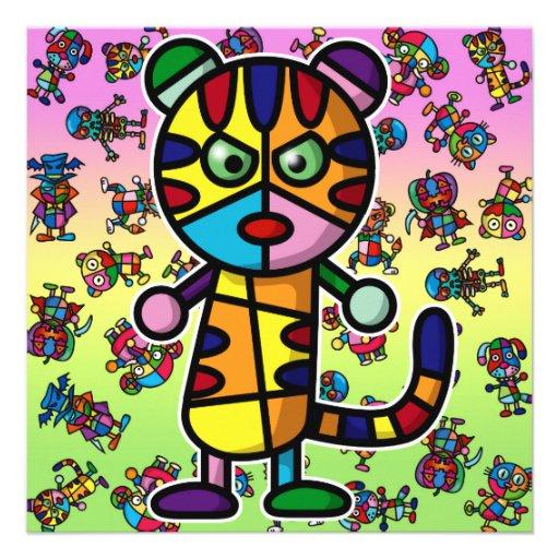 tigre coloré bristol