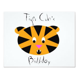 Tigre CUB Carton D'invitation 10,79 Cm X 13,97 Cm