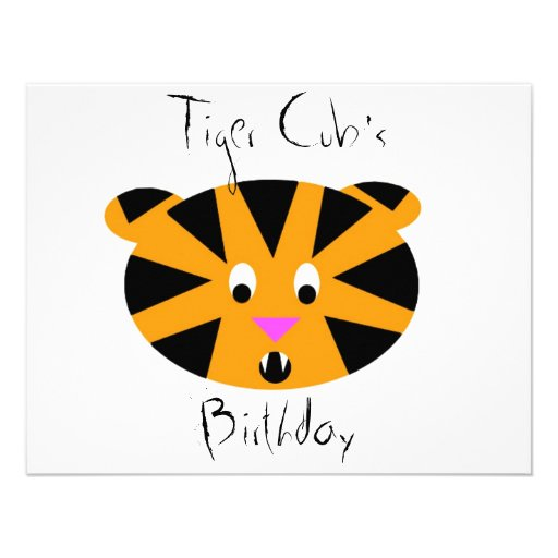 Tigre CUB Faire-part Personnalisables
