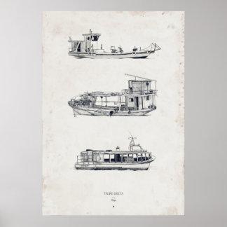 Tigre Delta: Ships Part One Print