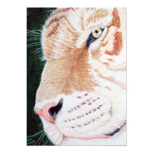 Tigre d'or carton d'invitation