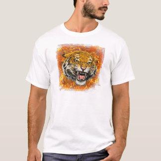 tigre en flamme t-shirt