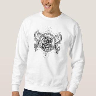 Tigre et dragons jumeaux sweatshirt
