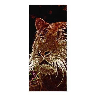 Tigre Carton D'invitation 10,16 Cm X 23,49 Cm