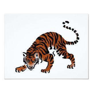 Tigre Carton D'invitation 10,79 Cm X 13,97 Cm