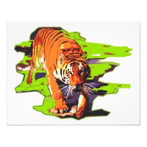 Tigre sauvage bristols personnalisés