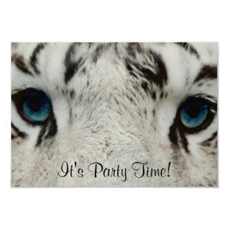 Tigre sibérien blanc carton d'invitation 8,89 cm x 12,70 cm