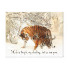 "Tigress and Cub ""Life is Tough, My Darling..."" Canvas Print"