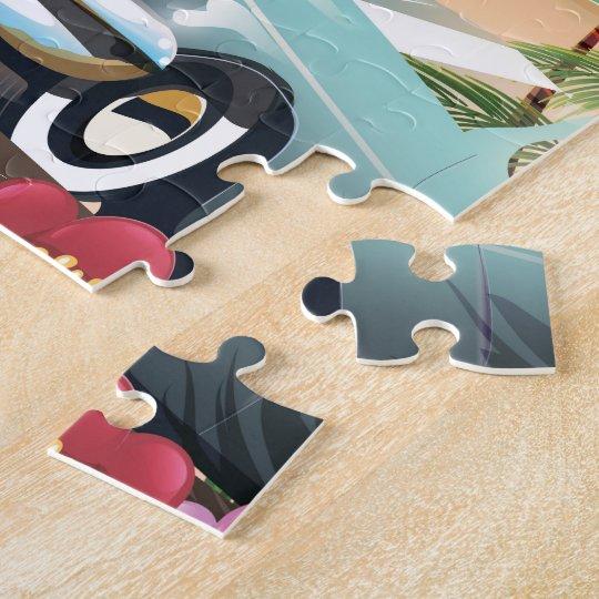 Tijuana Baja California Mexico travel poster Jigsaw Puzzle
