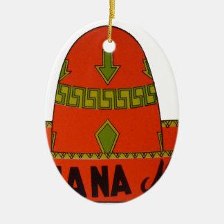 Tijuana Travel Sticker Ceramic Ornament