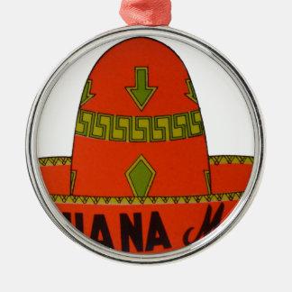 Tijuana Travel Sticker Metal Ornament